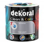 Dekoral Clean & Color 2,5l SZARY CANVAS Farba satynowa