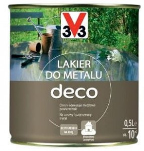 3V3 Lakier do metalu DECO 0,5L SATYNA  V33
